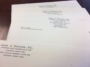 Lawyer letterhead